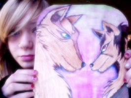 look at my wolves XD (don't look at my face XD) by ritsuka8aoyagi