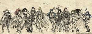 Fire Emblem Faves - Females by Meibatsu