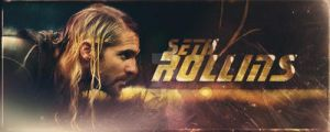 WWE Banner Seth Rollins01 by Sexton666