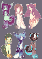 [163] $13 anthro character designs | closed by Toneru-chan