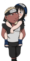 Commission Special: Young Fourth Raikage x Mizako by innocent-rebel