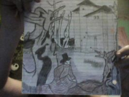 Drawing I did of Fall of House of Usher from Book by CALIBORNOuS