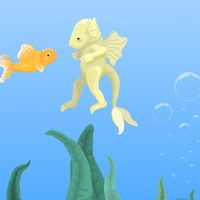 A Little Yellow Aquamouse L by Wuvu777