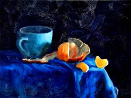 Tangerine and Cup by NR43