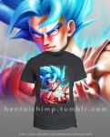 Goku Super Saiyan God 2 T-shirt by HentaiChimp