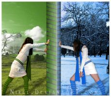 Green against Blue by nirel