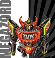 Megazord - Sketch by ACivicDilemma