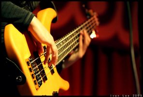 Yellow Bass Guitar by ivanlee