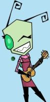 Uki + ukulele on iscribble by zimismysexylover