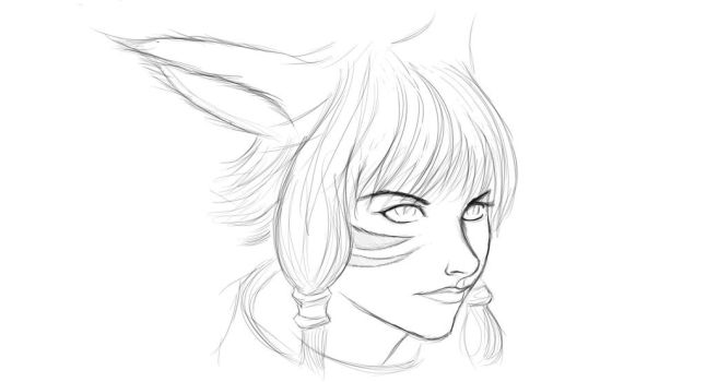 Y'shtola Sketch by hyrelynk
