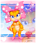 Giftart: One pretty Wendy Koopa by Bowser2Queen