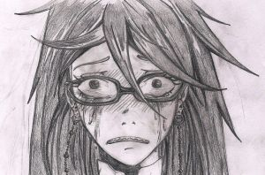 Grell in crying by Draghessa