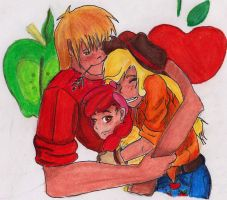 Apple Acre's Family by LoveAndHate123