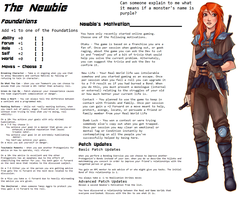 Persona Sheet Prototype - The Newbie by Thrythlind