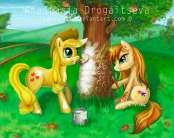 Apple Jack and Inspiria:Apple tree painting lesson by Stasushka