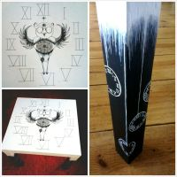Hand painted table 'Earl of Semptiternity' by Fallmusic