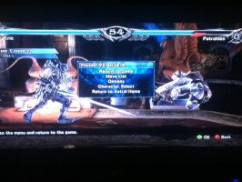 Soul Calibur V, My Custom Character Vs Patroklos by LightTheDragon19