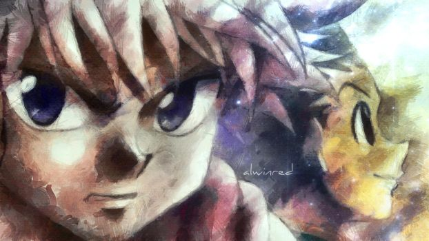 Hunter X Hunter Anime - Fan Art by alwinred