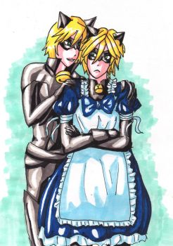 Felix X Maid Chat Noir by DosadiVH