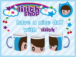 lilith's blue mug by lilithStyle