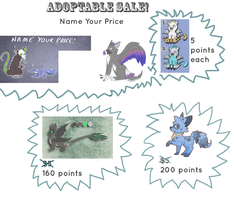 ADOPTABLE SALE!! by Parroti