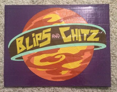 Rick and Morty: Blips and Chitz logo (duct tape) by YesterdazeGone
