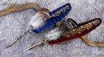 Blue and Red Feather Quill Pens by Chaey by ChaeyAhne
