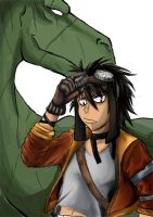 A boy and his Dragon by Michsi