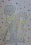 Simpson Enya and Alex by EnyatheAngelFox