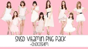 SNSD Vitamin PNG pack by Chocoshim