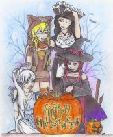 ''Happy Halloween'' from Team RWBY by CaelumPicta