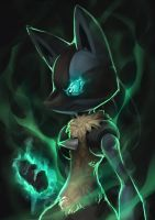 Fav Steel Type - Lucario by KoiDrake