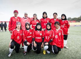A girls soccer team in Afghanistan by msnsam