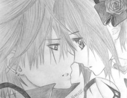 Yuuki and Zero [2] -Vampire Knight by Mayu012
