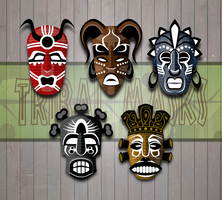 Tribal Masks by Viscious-Speed