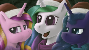 The Royal Sisters' Holiday Photo by BronyBiscuitBites