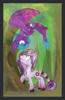 In the forest under the trees by Reporter-Derpy