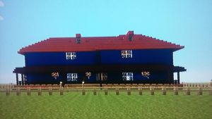 A two story house in Minecraft by Zaktheelf