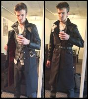 Jacob Frye coat 2.0 lining and buttoned up by TimeyWimey-007