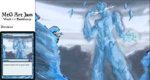 MtG Art Jam 1 - Flashfreeze by Fergtron