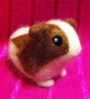 Lulu the Needle Felted Sweet Guinea Pig by Charlottejks