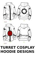 Turret cosplay hoodie designs by doodles4cash