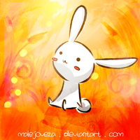Bunny at Orange Forest by malejoveza