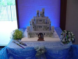 FFIV Castle Baron Wedding Cake by ArtBySabinaE