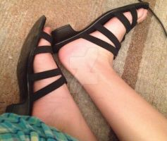 My Footsies in Sandals (left side) by Tickle-Angel