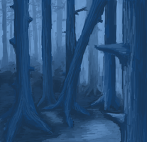 Gloomy Forest by SuperGhostDuck01