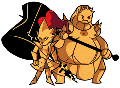 Ornstein and Smough by crobacus