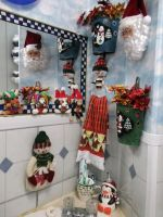 Christmas decorations 2011 bathroom vanity. by venicet
