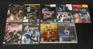 My RESIDENT EVIL game Collection by IronCobraAM