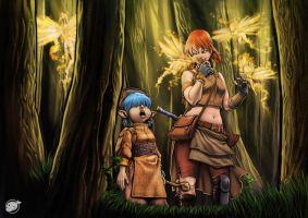 girls in the forest by estivador